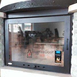 Puerta para chimenea 700x450mm