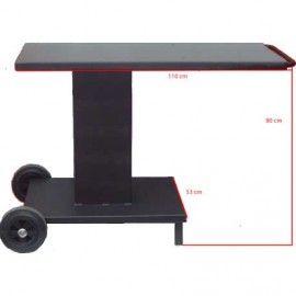 Conjunto Mod. Clásica 70 cm con material refractario y carro