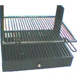 Interior composition barbecue with support to measure