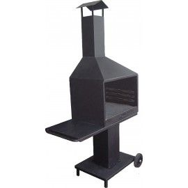 Composition Mod. Classic 70 cm with refractory material and trolley